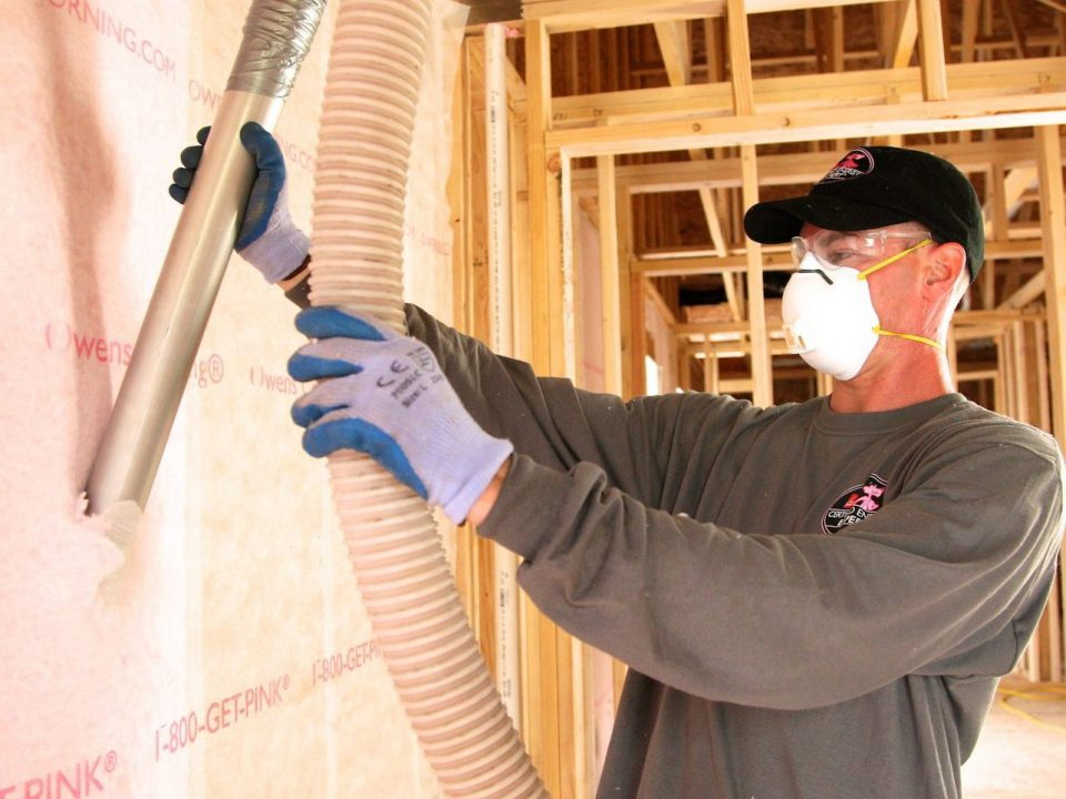 Blown-in Insulation Installation