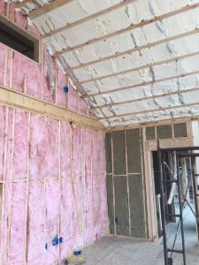 Spray in & Fiberglass Insulation in New Construction Home