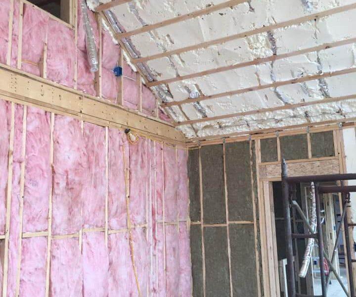 Spray in & Fiberglass Insulation in New Construction Home